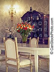 flores, en, interior