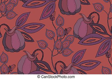 flores, fabuloso, leaves., frutas
