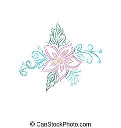 flores, floral, desenho, buquet
