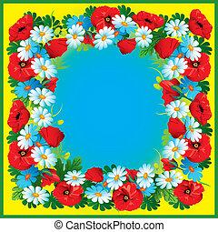flores, frame.