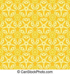 flores, fundo amarelo