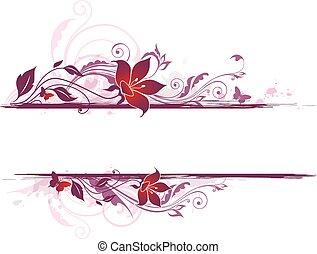 flores, fundo, violeta
