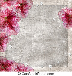 flores, grunge, plano de fondo