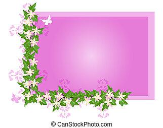 flores, hiedra