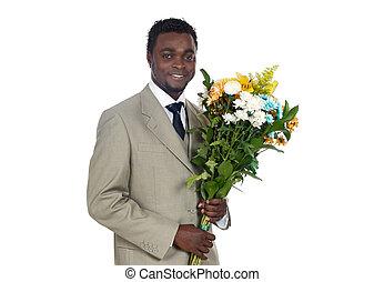 flores, homem