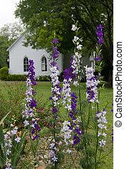 flores, igreja