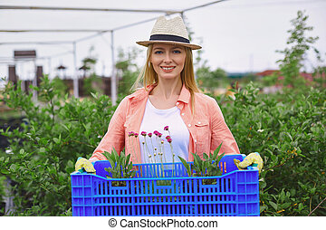 flores, jardineiro