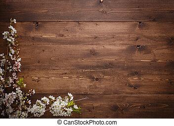 Chão Primavera Textura Madeira Flores Grupo Bonito Buquet