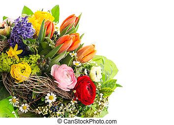 flores mola, closeup, coloridos