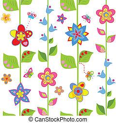 flores mola, embrulhando, engraçado