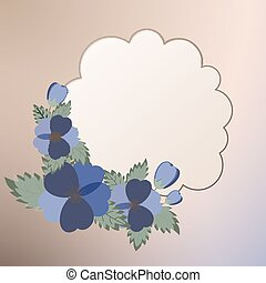 flores mola, modelo, cartão