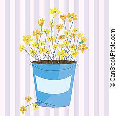 flores mola, páscoa, saudação, fundo