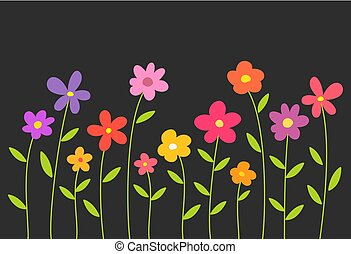 flores mola, pretas, coloridos, experiência.