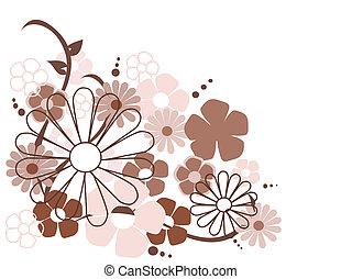 flores mola, vetorial, ilustração