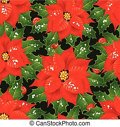 flores, natal, fundo, seamless