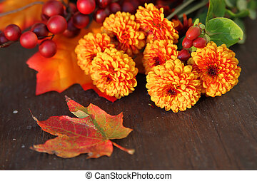 flores, outono
