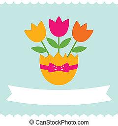 flores, páscoa, cartão