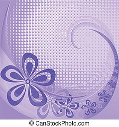 flores púrpuras, plano de fondo