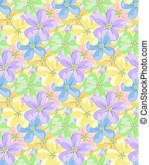 flores, para, seamless, pattern.