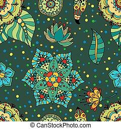 flores, patrón