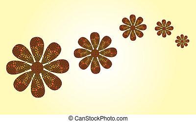 flores, plano de fondo