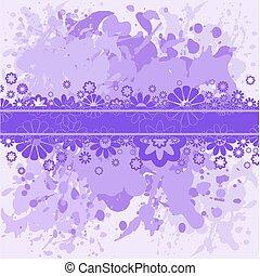 flores, plano de fondo, lila, violeta