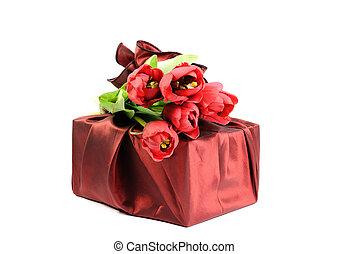 flores, presente