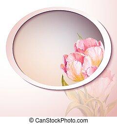 flores, primavera, convite, modelo