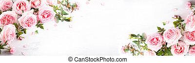 flores, rosas cor-de-rosa, bonito