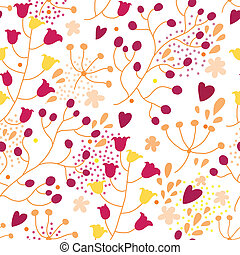 flores, seamless, textura