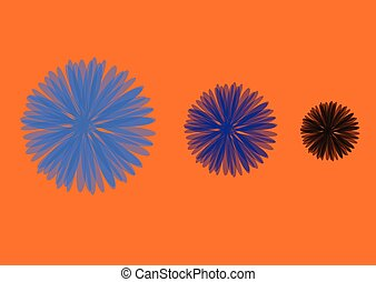 flores, três