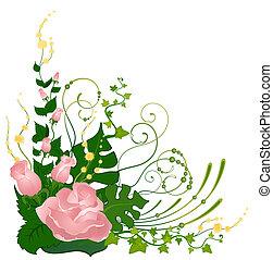 flores tropicais, fundo