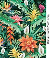 flores tropicales, plano de fondo