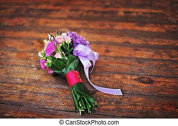 flores, vário, buquet, deslumbrante, feito