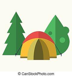 floresta, barraca