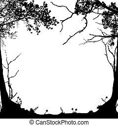 floresta, quadro