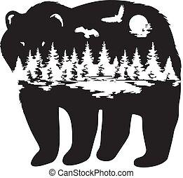 floresta, urso