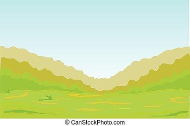 floresta verde, planície, cinto