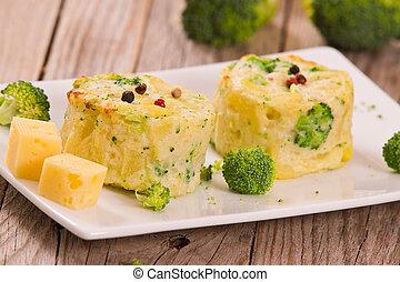 florets., gratins, broccolo, patata