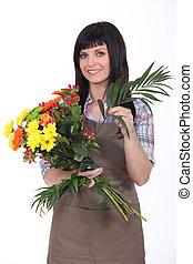 floricultor, tiro estúdio