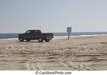 Florida beach driving