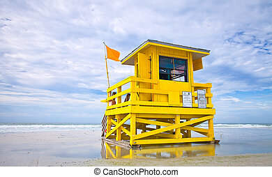 Florida Beach lifeguard house