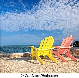 Florida beach lounge chairs