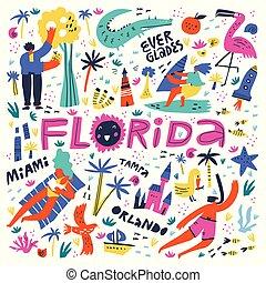 Florida beach summer rest flat