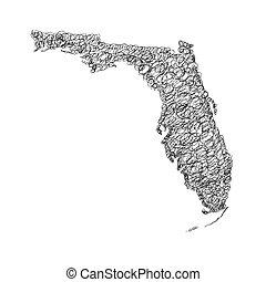 Florida doodle map