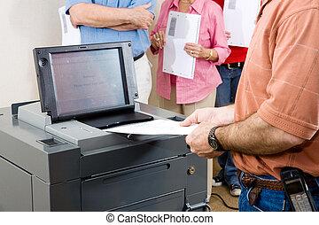Florida Election 2008 - Closeup of a man feeding his ballot...