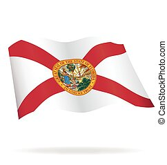 florida fl flag flying vector