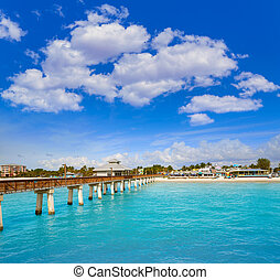 Florida Fort Myers Pier beach US