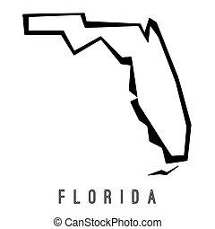 Florida geometric map