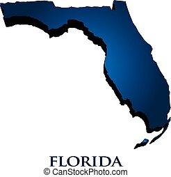 florida helyzet, grafikus, térkép, 3